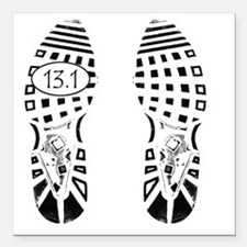 "13.1a shoeprint shirt Square Car Magnet 3"" x 3"""