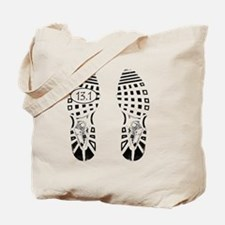 13.1a shoeprint shirt Tote Bag