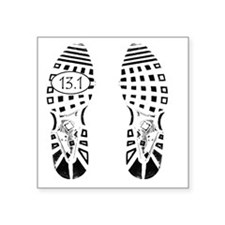 "13.1a shoeprint shirt Square Sticker 3"" x 3"""
