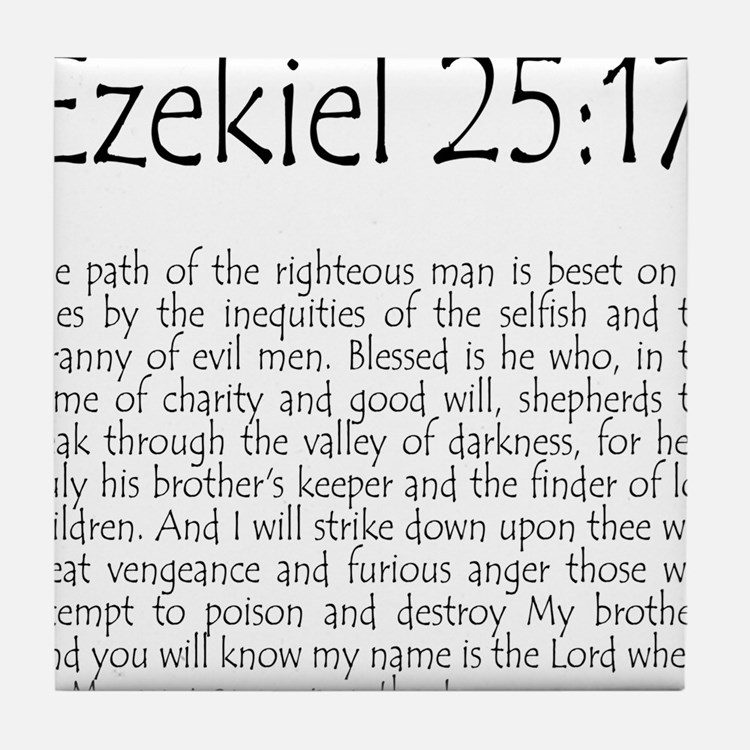 ezekiel2517 quote Tile Coaster