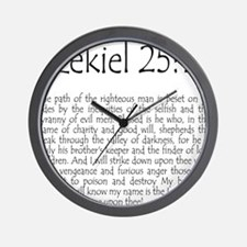 ezekiel2517 quote Wall Clock