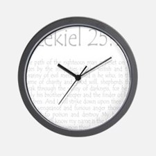 ezekiel2517 quote - grey Wall Clock