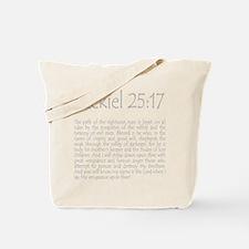 ezekiel2517 quote - grey Tote Bag