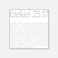 """ezekiel2517 quote - grey Square Sticker 3"""" x 3"""""""