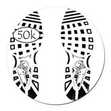 halfmarathon shoeprint shirt Round Car Magnet