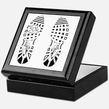 halfmarathon shoeprint shirt Keepsake Box