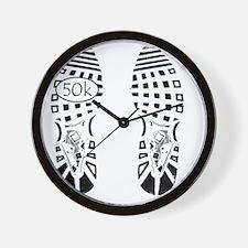 halfmarathon shoeprint shirt Wall Clock