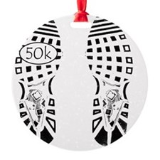 halfmarathon shoeprint shirt Ornament