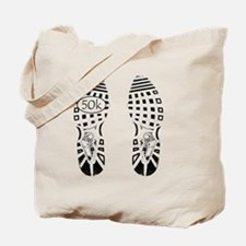 halfmarathon shoeprint shirt Tote Bag
