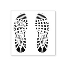 "halfmarathon shoeprint shir Square Sticker 3"" x 3"""