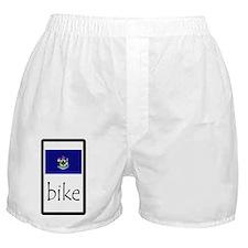 sticker maine bike Boxer Shorts