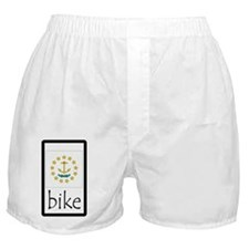 sticker rhode island bike Boxer Shorts