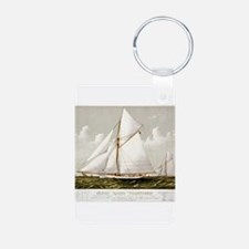 Sloop yacht Volunteer - 1887 Keychains