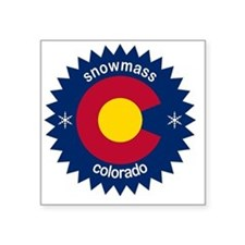 "snowmass Square Sticker 3"" x 3"""