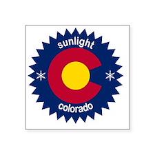 "sunlight Square Sticker 3"" x 3"""