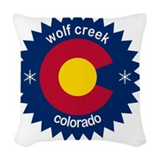 wolf creek Woven Throw Pillow