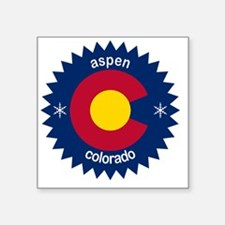 "aspen Square Sticker 3"" x 3"""