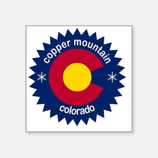"""copper mountain Square Sticker 3"""" x 3"""""""