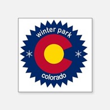 "winter park Square Sticker 3"" x 3"""