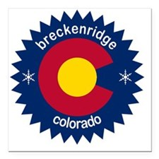 "breckenridge3 Square Car Magnet 3"" x 3"""