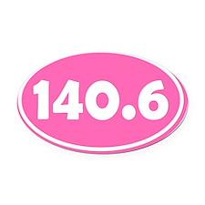 140.6 Oval - Pink Oval Car Magnet