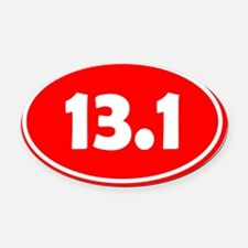 13.1 Oval - Red Oval Car Magnet
