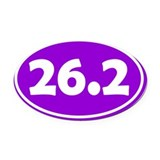 26.2 marathon Oval Car Magnets