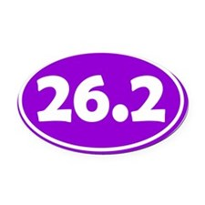 26.2 Oval - Purple Oval Car Magnet
