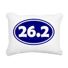 26.2 Oval - Navy Blue Rectangular Canvas Pillow