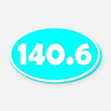 140.6 Oval - Cyan Oval Car Magnet