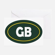 Green Bay Oval Greeting Card