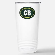 Green Bay Oval Stainless Steel Travel Mug