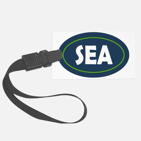 Seattle Oval Luggage Tag