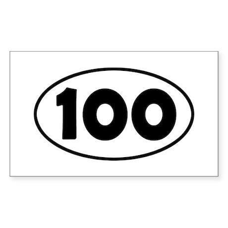 100k Oval Sticker (Rectangle)