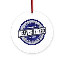 Beaver Creek Round Ornament
