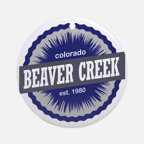 Beaver Creek Round Ornament