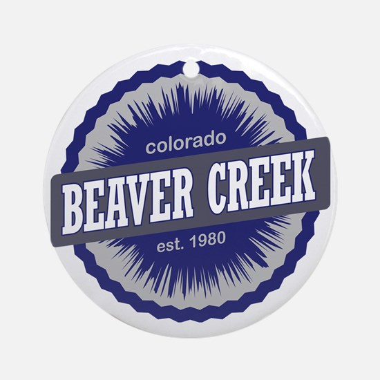 Beaver Creek Ski Resort Colorado -  Round Ornament