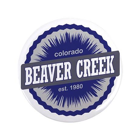 "Beaver Creek Ski Resort Colorado - Blu 3.5"" Button"