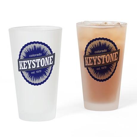Keystone Ski Resort Colorado - Blue Drinking Glass