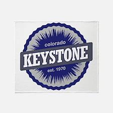 Keystone Ski Resort Colorado - Blue Throw Blanket