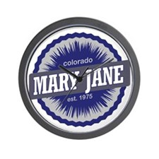 Mary Jane Ski Resort Colorado - Blue Wall Clock