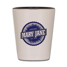 Mary Jane Ski Resort Colorado - Blue Shot Glass