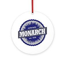 Monarch Ski Resort Colorado - Blue Round Ornament