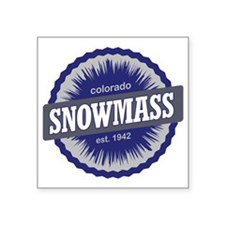 "Snowmass Ski Resort Colorad Square Sticker 3"" x 3"""