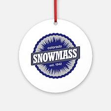 Snowmass Ski Resort Colorado - Blue Round Ornament