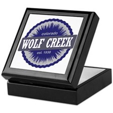 Wolf Creek Ski Resort Colorado - Blue Keepsake Box