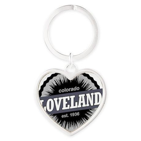Loveland Ski Resort Colorado Black Heart Keychain
