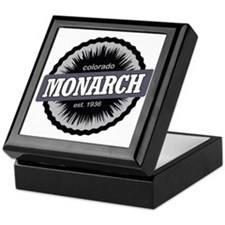 Monarch Ski Resort Colorado Black Keepsake Box