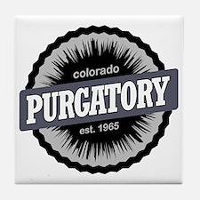 Purgatory Ski Resort Colorado Black Tile Coaster
