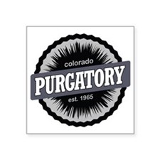 "Purgatory Ski Resort Colora Square Sticker 3"" x 3"""